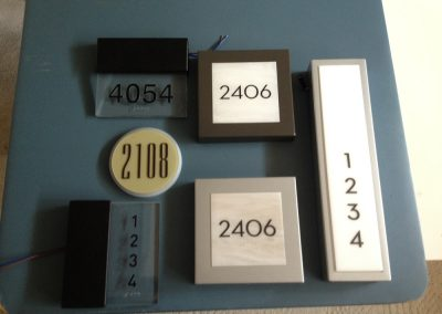 unit door numbers
